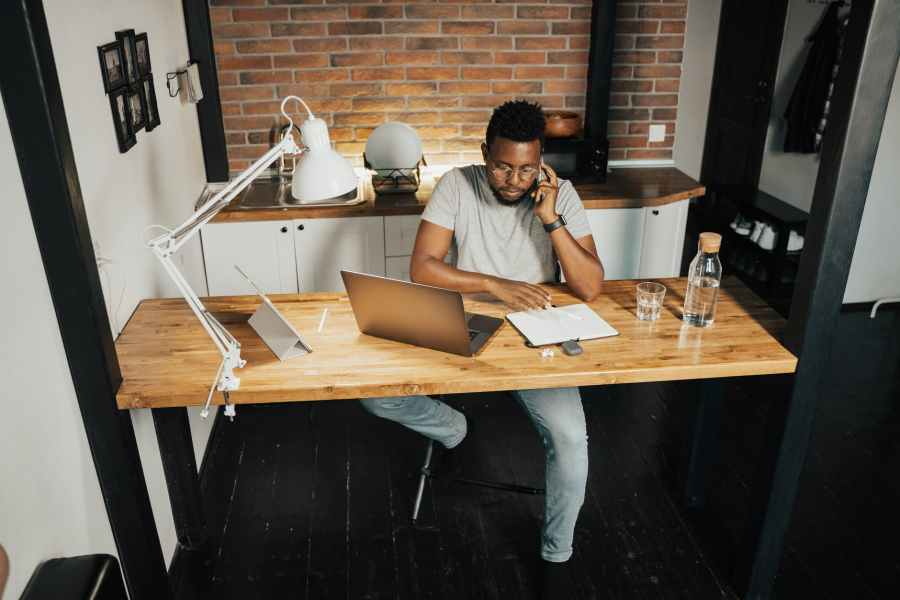 man working from home. Photo by Tima Miroshnichenko on Pexels.com