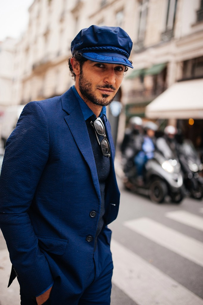 Street style at Paris Fashion Week Men's Spring 2022, photographed on June 24, 2021.