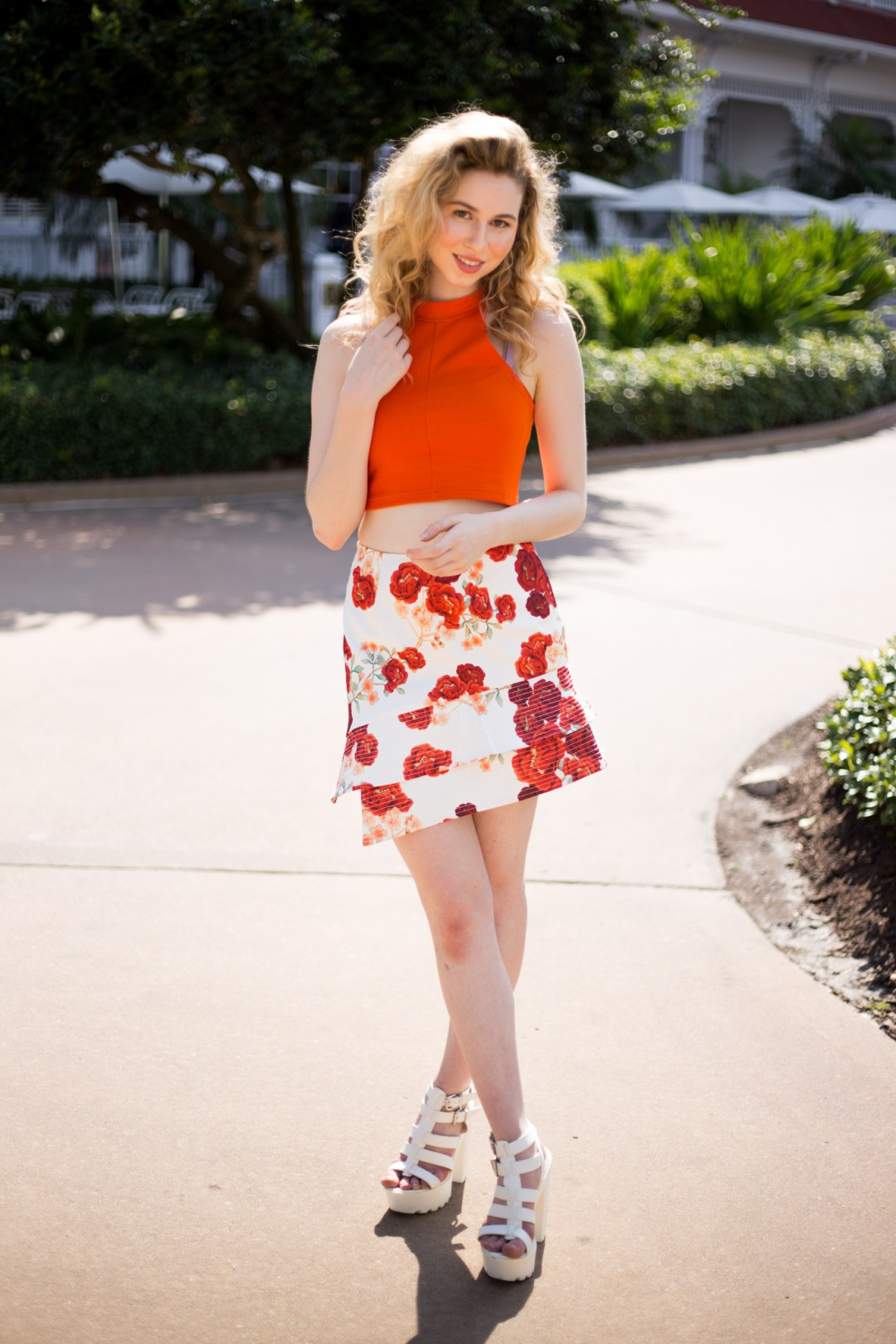 ORANGE_FLORAL_SKIRT_DISNEYWORLD_ANNIE_ROBINSON_FABINCBLOG_ 12