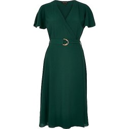 wrap dress with D-ring.