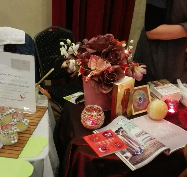 stall with information about massages