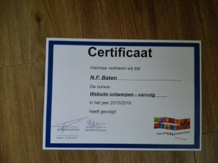 diploma of the course website building