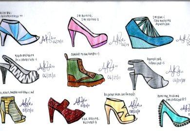 Fashion Design Drawing Shoes