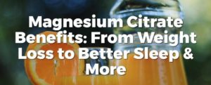 How magnesium citrate Helps in weight loss