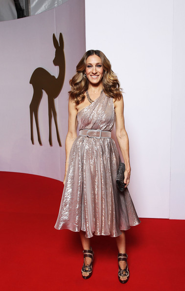 Sarah+Jessica+Parker+Dresses+Skirts+One+Shoulder+ztIudzzkKqhl