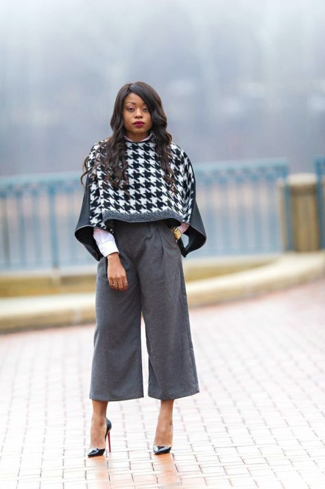 chic-wish-Houndstooth-wool-blend-poncho-2