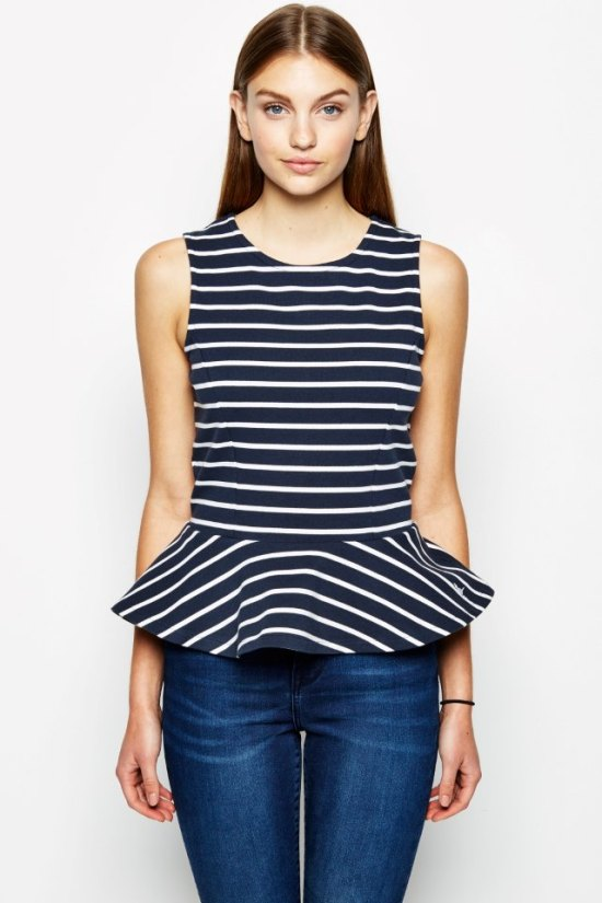 Kemnay Peplum Top Jack Wills
