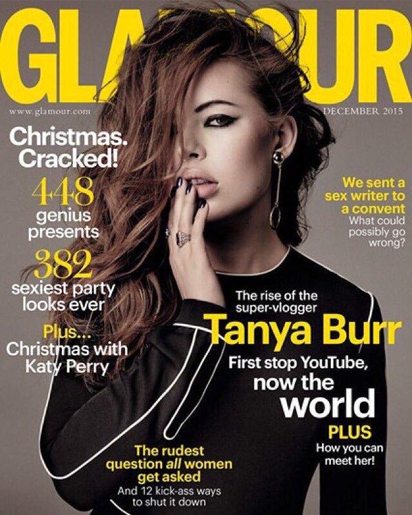 Tanya Burr Covers Glamour Magazine Uk December 2015 Fashionandstylepolice Fashionandstylepolice