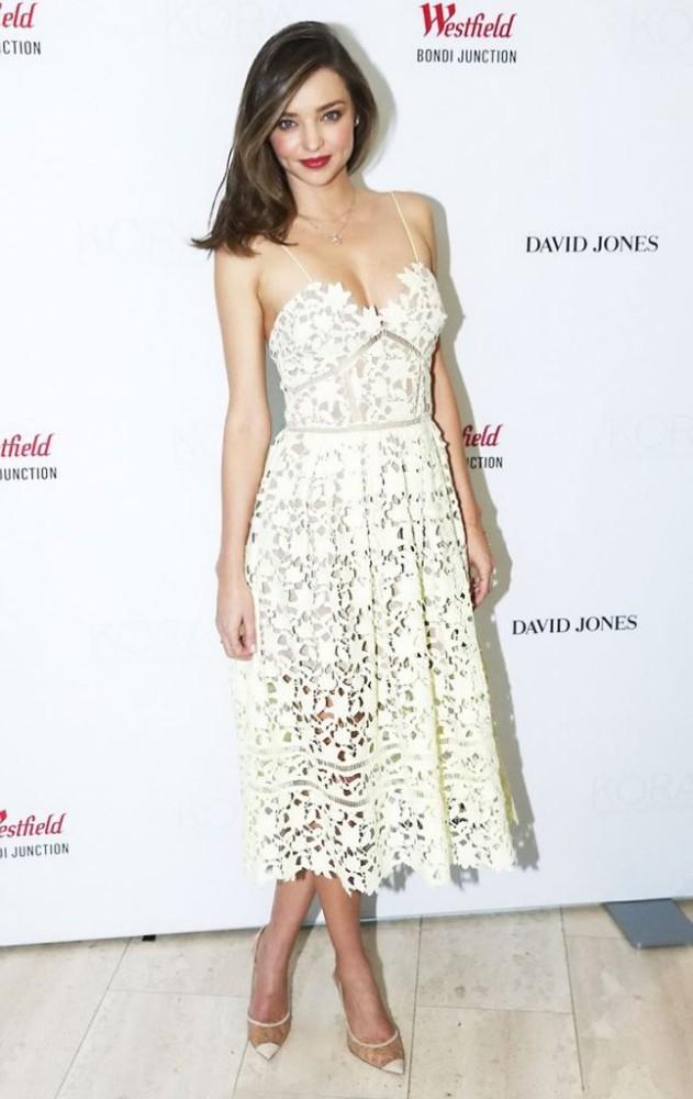 Celebrity Style Miranda Kerr In Self Portrait Fashionandstylepolice Fashionandstylepolice
