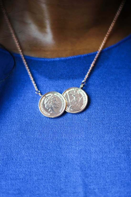 Rose Gold Coin Necklace Image
