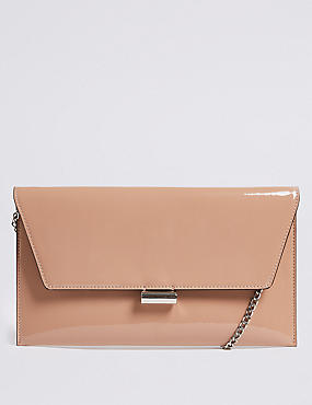 M&S COLLECTION Faux Leather Fold Over Clutch Bag Picture