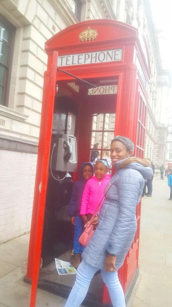 London Telephone box image
