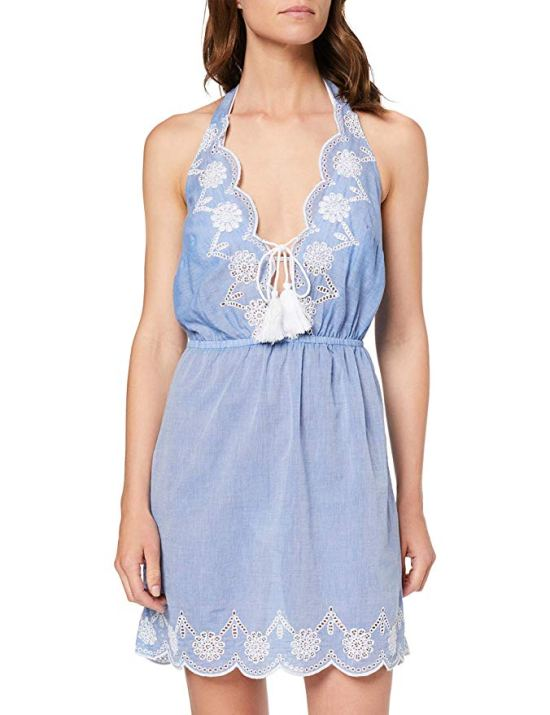 Dorothy Perkins Women's Chambray Brodery Dress Cover-Up picture