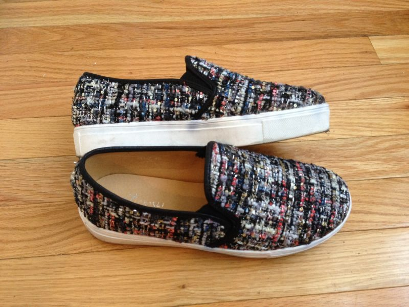 Tweed Slip on Shoes I bought in Mong Kok