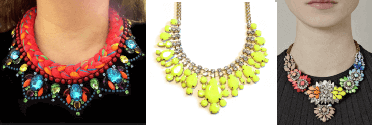 Bright Colored Statement Necklaces