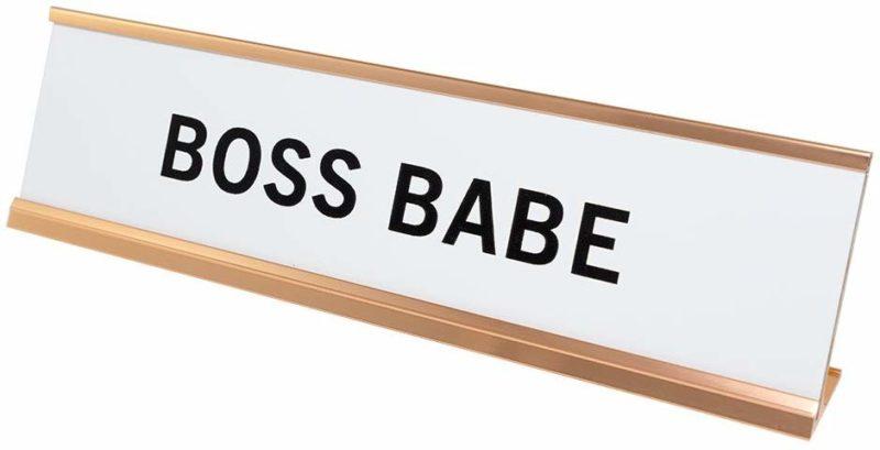 Boss Babe Desk Plate
