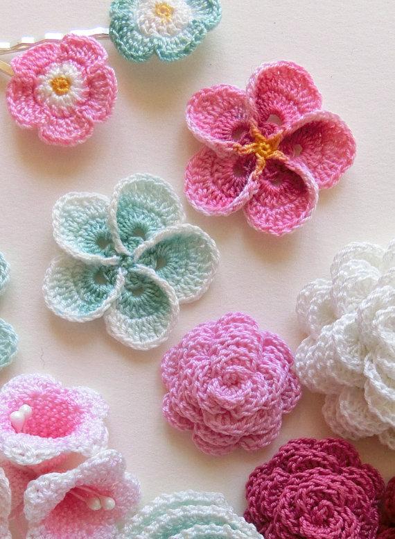 Crochet Flower Pattern Like This Item Zffsglg
