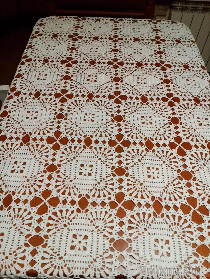 Easy Round Crochet Tablecloth