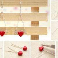 Easy DIY Earrings For V-day!