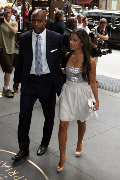 Rocsi at La La Vasquez and Carmelo Anthony wedding. by Vuitton