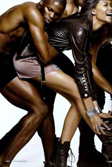 Chanel Iman pour Elle Italia Octobre 2010