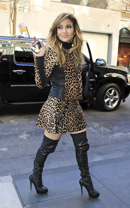 more photos c84c8 8d938 Jennifer Lopez Rocks A.L.C. Leopard Oufit, Christian ...