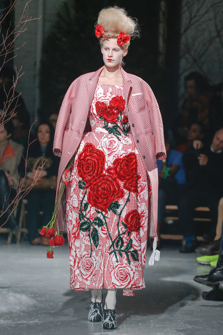 Thom-Browne-Fall-2013-Rose-Print-Dress