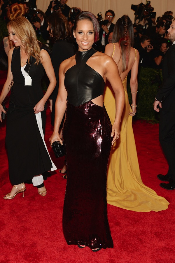 alicia keys met gala 2013 costume institute punk chaos to couture