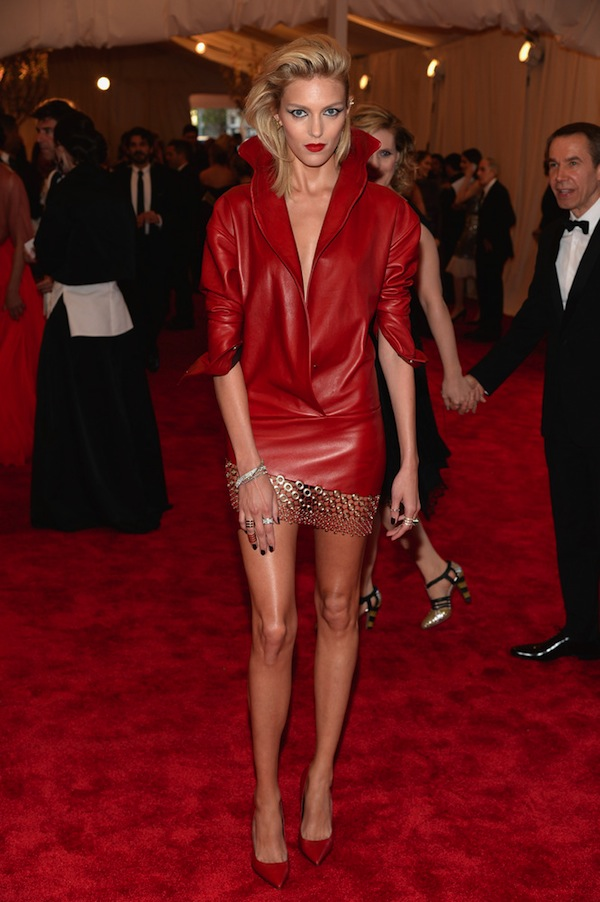 anja rubik The 2013 Metropolitan Museum of Art Costume Institute Gala- Punk Chaos to Couture