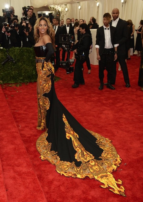 beyonce Anne Hathaway 2013 met galal punk chaos to couture costume institute met gala givenchy haute couture