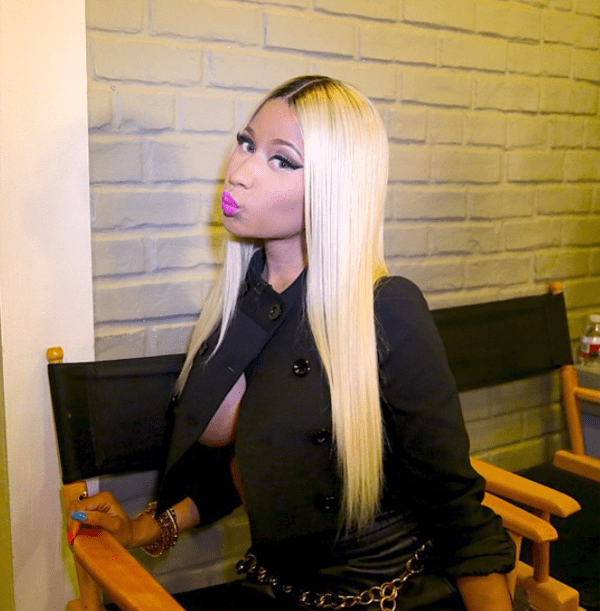 Nicki-Minaj-Instagram-Versace-and-Herve-Leger
