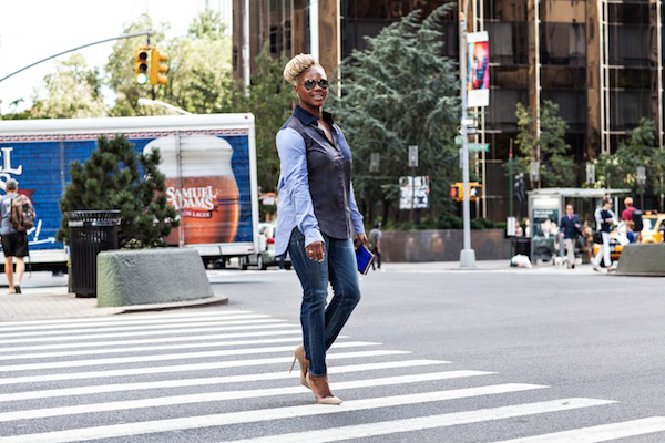 claire sulmers derek lam shirt r 13 jeans jimmy choo shoes ray ban sunglasses