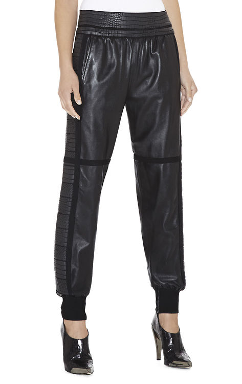 herve-leger-textured-panel-leather-pants
