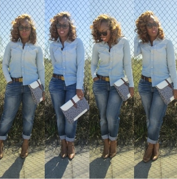 thequeenesmari  123  fashion bomb daily denim on denim trend fall 2013