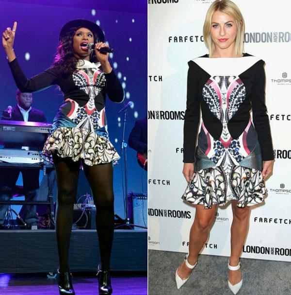 Jennifer-Hudson-vs-Julianne-Hough-Peter-Pilotto-Caio-Printed-Dress