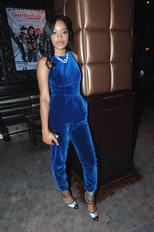 Keke-Palmer-Crazy-Sexy-Cool-After-party-fashion-velvet-jumpsuit-and-marissa-webb-alina