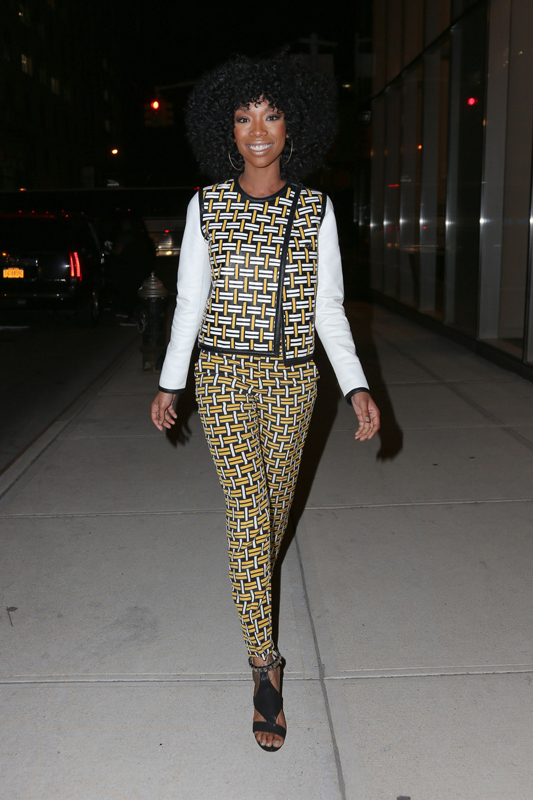 Brandy Norwood all smiles while out and about in New York City