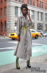 street york daily african american styles celebrity celebrities bloggers chasity samone wear nyc bomb neon chic accents claire magazine