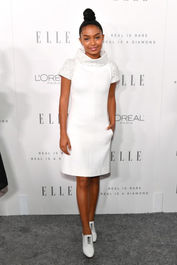 Scene Elle' Women In Hollywood Awards With Yara Shahidi Chanel Tessa Thompson