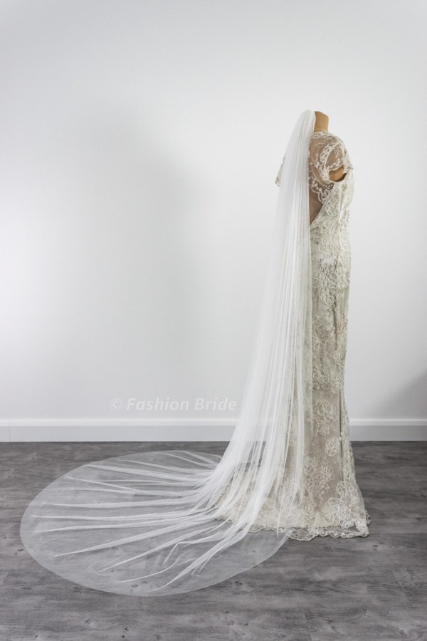Soft tulle plain veil single-layer