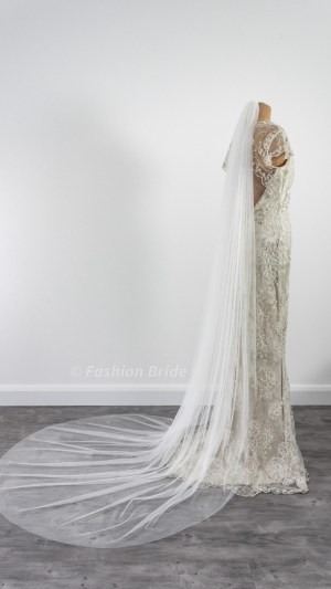 Soft tulle plain veil single-layer