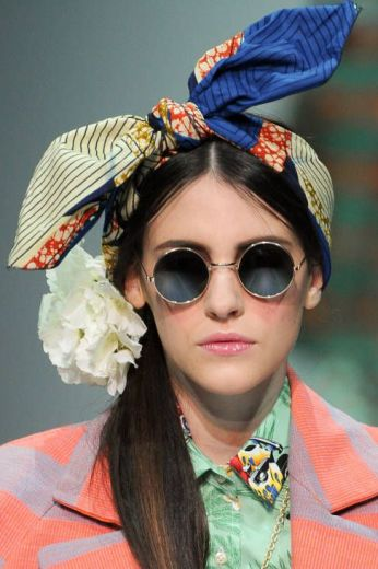 Stella Jean Spring 2014 - Head Scarves and Round Sunglasses