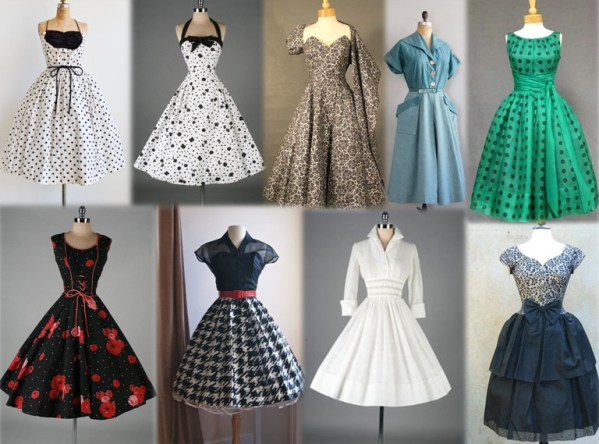 vestidos originais do anos 50