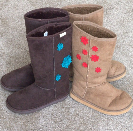 Fabric Boots with DIY Decoration