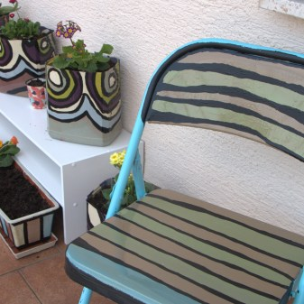 DIY Patio Chair with Stripes