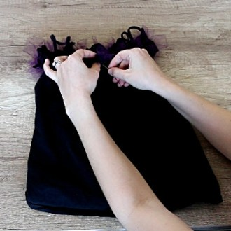 Adding ruffles to a top