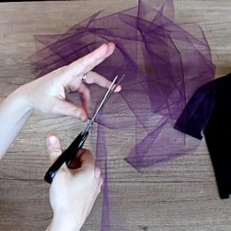 DIY top with fabric ruffles