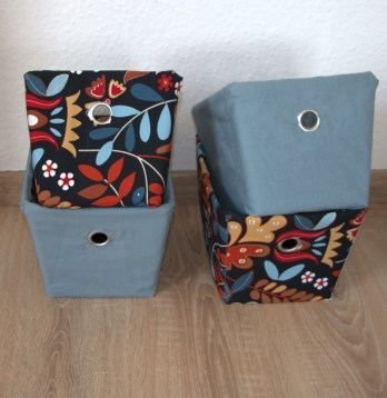 DIY storage boxes for bathroom storage
