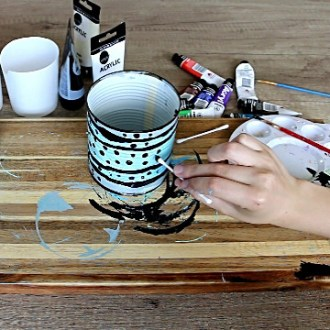 DIY tin can decor