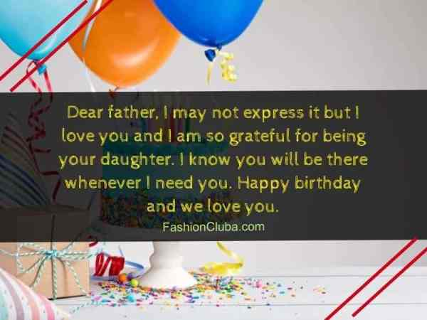 Inspirational Birthday Wishes for Dad from Daughter